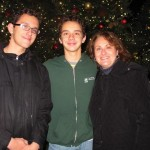 """""""The event gets you in the spirit,"""" said Nicholas Chiofalo (far left), with brother Joseph and his mother Linda Peri."""