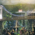 The Holiday Train Show boasts replicas of many landmarks, including the George Washington Bridge.