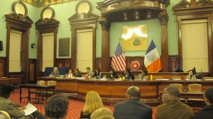 The practices of local department stores Barneys New York and Macy's were the focus of a City Council hearing.