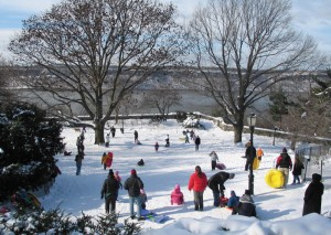Outdoor fun can be had in the winter as well. Photo: Mark D. Speed