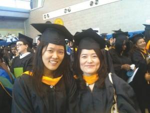 Lehman alumna Kisook Ahn, left, was killed in the Spuyten Duyvil derailment.