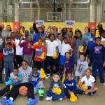 The Monroe Mustangs women's basketball team ran a basketball clinic at the C-BALL Community Board Athletic Scholarship League.