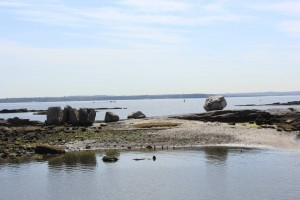 The boulders on Hunter Island were deposited some 15,000 years ago.