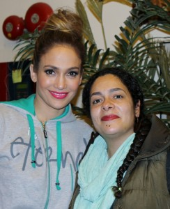 """Author Nilka Martell and """"J-Lo""""."""