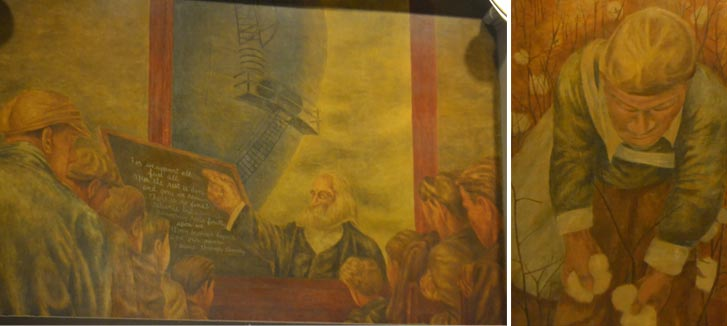 The Shahn murals at the Bronx General Post Office Building will be preserved.