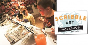 At Scribble Art Workshop, get ready to get dirty – and creative.