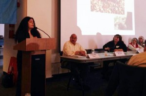 Nilka Martell speaks at the 20th Annual Bronx Parks Speak Up conference. Photo: Rosanna Delgado