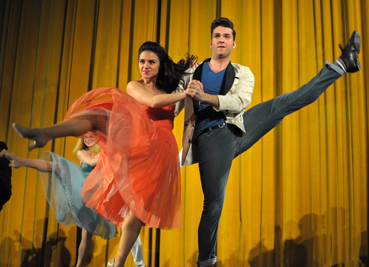 Dancers performed before the West Side Story screening at the United Palace.