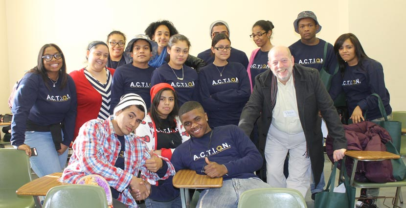 "The A.C.T.I.O.N. youth group presented a ""Guide to Six Steps to Community Organizing""."