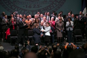 The inauguration of Speaker Melissa Mark-Viverito drew a full house to Hostos Community College.