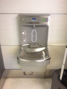 You can refill at a water fountain.