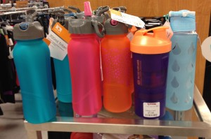 Water (bottles) can come in whatever style or color you choose.