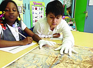 PS 48 students undertook historical analysis with primary source materials. Photo: Justin Czarka