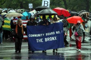 The Bronx Day festivities included a parade.