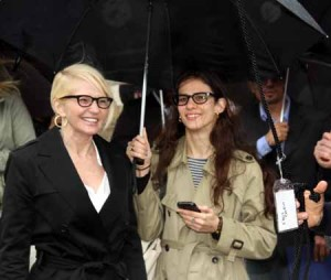 Actress Ellen Barkin was inducted into the Bronx Walk of Fame.