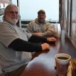 """It's good stuff,"" said Jim Crowe (right) with friend Larry Turner."