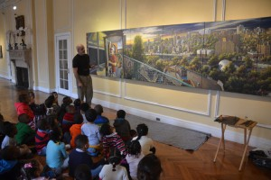 """Hauben engages preschoolers on the question """"What is art?""""."""