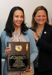 Deputy Chief of Staff Elizabeth de León Bhargava (left) with City Council Speaker Melissa Mark-Viverito.  Photo: QPHOTONYC