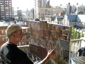 The artist at work. </br><i>Photo: danielhauben.com</i>