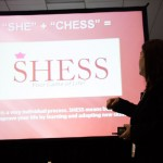 Life-long chess player and author Wendy Oliveras presented on the SHESS strategy. Photo: M. Cummings