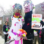 Residents protested FreshDirect's relocation along the South Bronx waterfront.