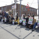 The protest concluded at the Harlem River Rail Yards.