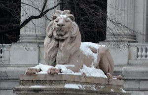 Patience, one of the landmark lions at the New York Public Library, is the work of a Bronx-based family.