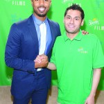Award-winning actor Michael B. Jordan, shown here with Cardenas, joined the program as an ambassador and mentor.
