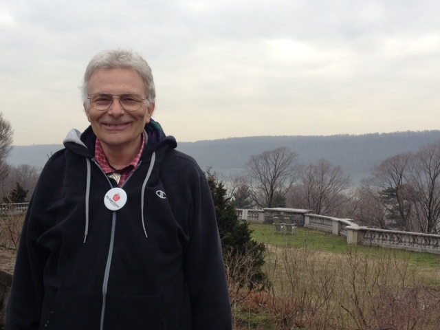 """""""I love showing off this borough,"""" says Charles Schwartz, who serves as a Big Apple Greeter."""
