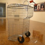 Trash-Shopping Cart, by the conceptual art collective Los Carpinteros.