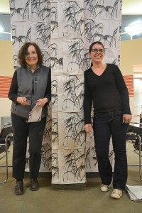 Co-curators Susan Hoeltzel (left) and Yuneikys Villalonga (right).