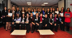 For the 11th year, 100 Hispanic Women awarded scholarships to young Latina scholars.  Photo: QPHOTONYC