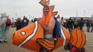 """""""It's a great way to brush away the cobwebs,"""" said Frank Montero, who came dressed as Nemo."""
