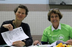 Basia Nikonorow, coordinadora de Partnerships for ParK Bronx Outreach, y Edie Kean, voluntario de GreenThumb.