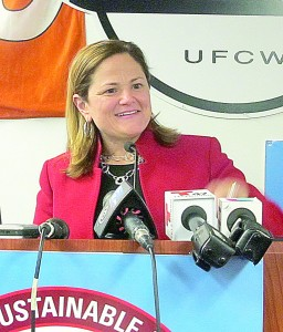 """""""You have demonstrated the power that is on the street,"""" said Speaker Melissa Mark-Viverito."""