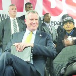 Mayor de Blasio also touted the benefits of paid sick leave.