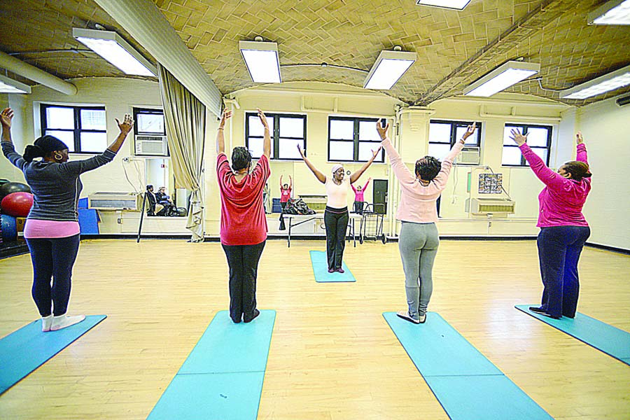 The Hansborough Recreation Center's fitness room has a new look. Photo: Malcolm Pinckney/NYC Parks