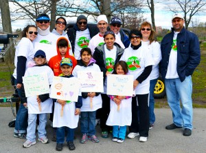 """""""I want to spread the word,"""" says Castle Hill resident Luis Salgado (center, in white hat), who has had multiple sclerosis for 11 years."""