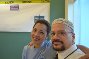 The Visiting Nurse Services of New York' rehab services coordinator Gilbert López with his supervisor, Rosa Lea Martínez, were among those honored for extraordinary efforts.