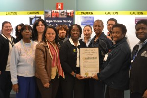 """Recognition for VNSNY's work included the declaration by Bronx Borough President Ruben Diaz Jr. as """"Visiting Nurse Service of New York"""" Day."""