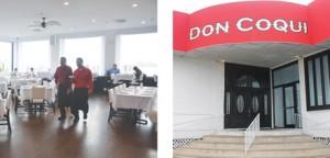 The eatery boasts a sleek, modern interior.