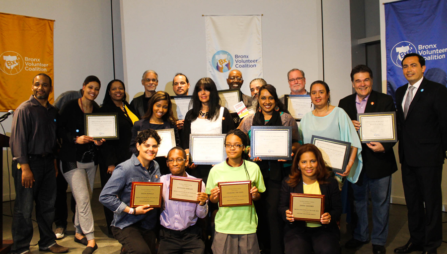 The BxVC celebrated its First Bronx Volunteers of the Year award ceremony.