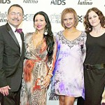 From left to right: Chacón; Maria Mejia, Recipient of the Dennis de León Voz de Compromiso Award; Miriam Vega, Vice President of the Latino Commission on AIDS; and Ally Sheedy, Actor and Cielo Latino presenter.