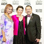 From left to right: Miriam Vega, Vice President of the Latino Commission on AIDS; Carine Brouillon, President of Janssen Therapeutics accepting the Business Leadership Award; and Chacón.
