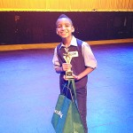 """""""I was surprised to win,"""" said Ezequiel Pujols, who took first prize in the singing category."""