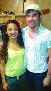 Gómez, left, with fellow actor Ryan Alvarado
