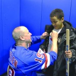 On hand also was former Ranger Brian Mullen, who demonstrated various techniques, spoke with the players, and signed autographs.