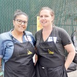 Roseanne Placencia (left) and Lily Kesselman co-founded the South Bronx Farmers Market.