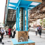 "The ""Boogie Down Booth"" music installation at Freeman Street and Southern Boulevard was unveiled. Photo: William Michael Fredericks/Design Trust for Public Space"