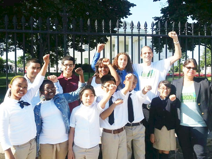 Green Bronx Machine students visited the White House. Photo: S. Ritz